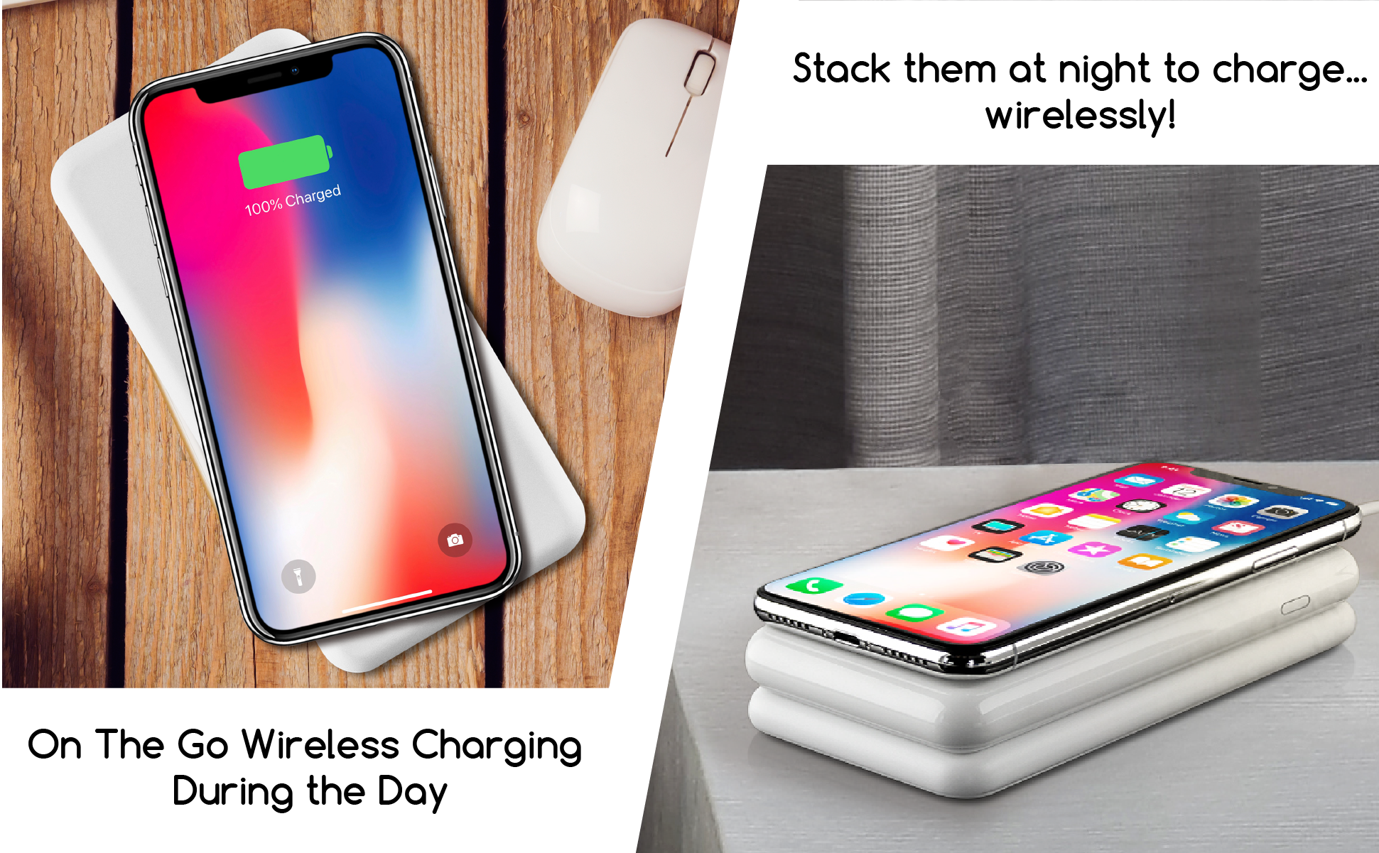 WiBa: 100% Wireless & Stackable Power Bank & Fast Charging Pad